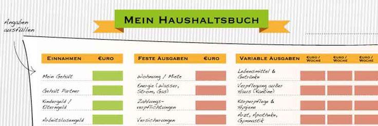 Ein Haushaltsbuch kann dabei helfen, effektiv Geld zu sparen. Jetzt das Haushaltsbuch von Heimarbeit-Online.de kostenlos herunterladen und ausdrucken.