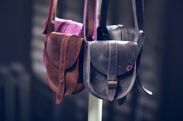 Torebka skórzana - ręcznie robiona - NAVAHO - Uniwersalne torby