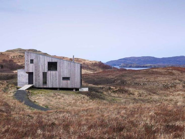 The Hen House, aka 15 Fiscavaig, on the Isle of Skye by Rural Design.  This small house (72 m2 or 775 ft2) on the west coast of Scotland was designed by Rural Design Architects. The owners wanted a low-impact house that would make efficient use of water and energy resources.