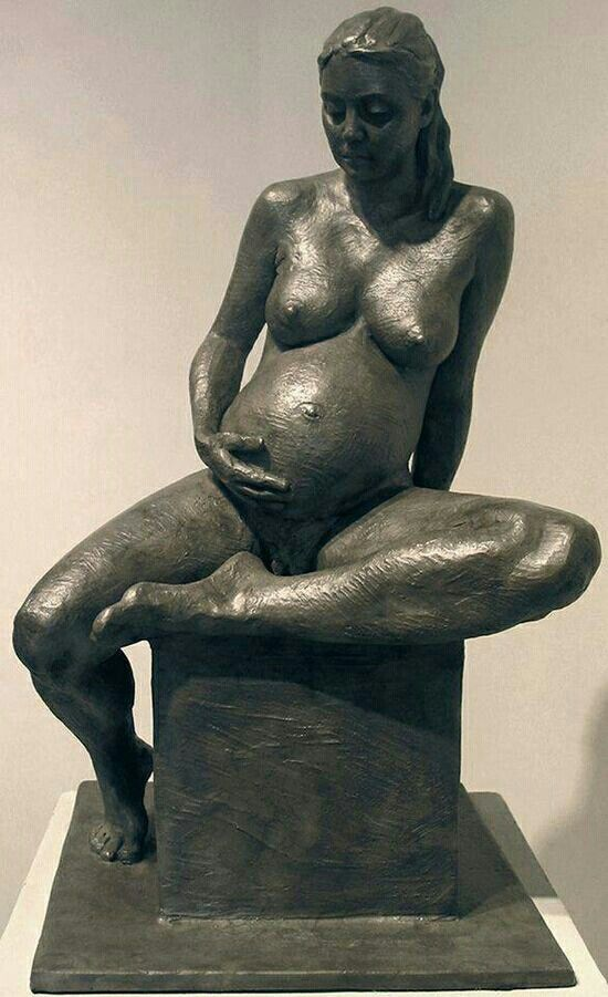 from Tristan pregnant nude in sculpture