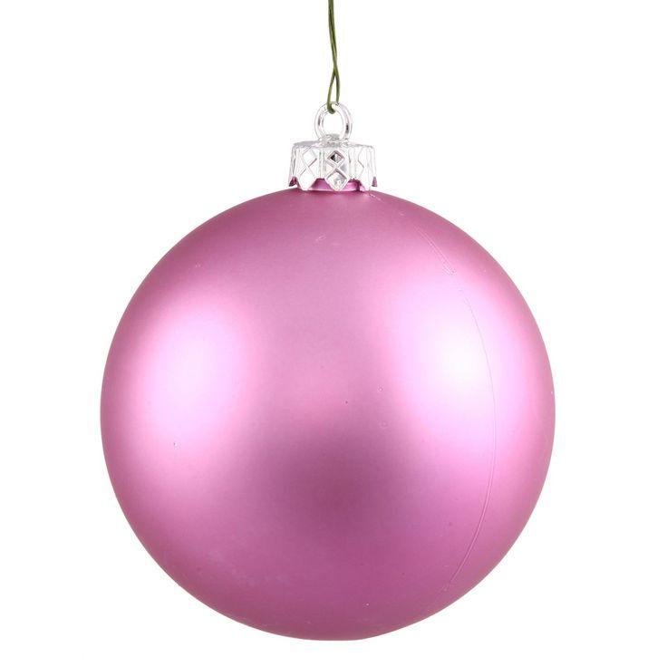 Decorating Ornament Balls 5Ct Glamorous Bubblegum Pink Matte Uv Shatterproof Christmas Ball