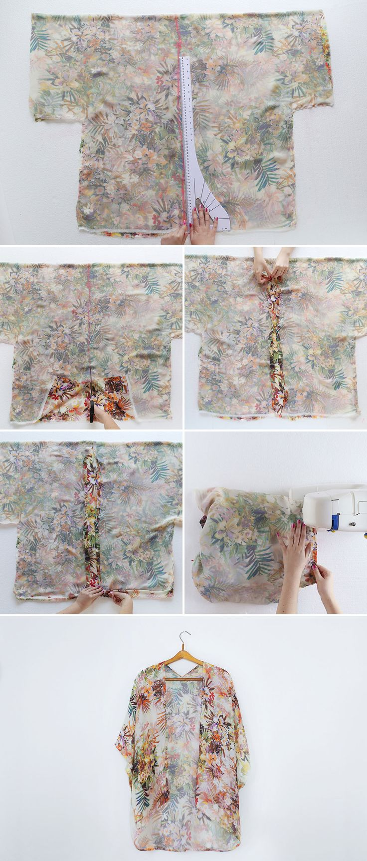 DIY a Kimono in 30 Minutes for Just $10! via Brit + Co.