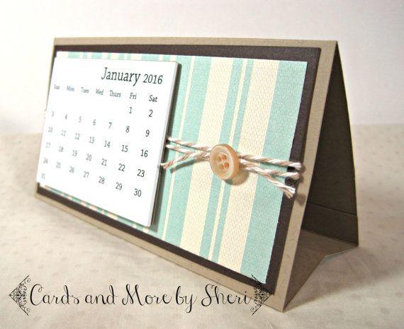 2016 Easel Desk Calendar - Neutrals