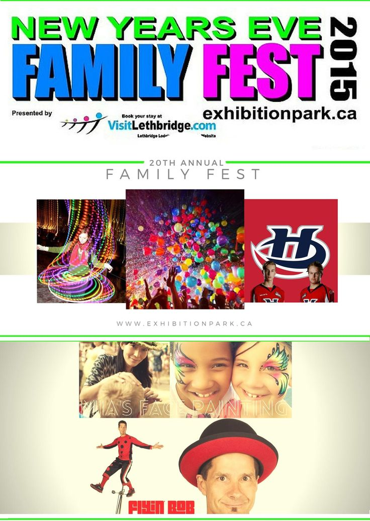 20th Annual FAMILY FEST is TOMORROW from 5-9pm! #yql #lethbridge #familyfestleth   More information: www.exhibitionpark.ca