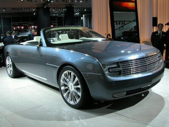 Light Blue 2004 Lincoln Mark X Concept Car Photo