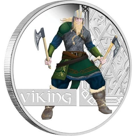 FREE SHIPPING 2010 Viking 1oz Silver Proof Coin Great Warrior Series  viking coin , perth mint coins, bullion coins , silver  coins