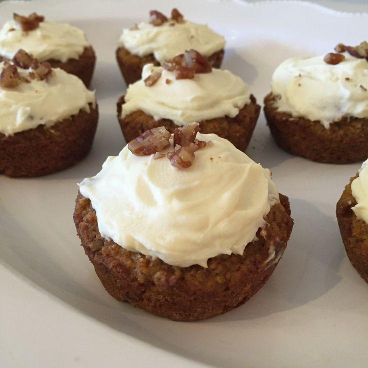 Gluten Free Sugar Free Carrot Cake Cupcakes