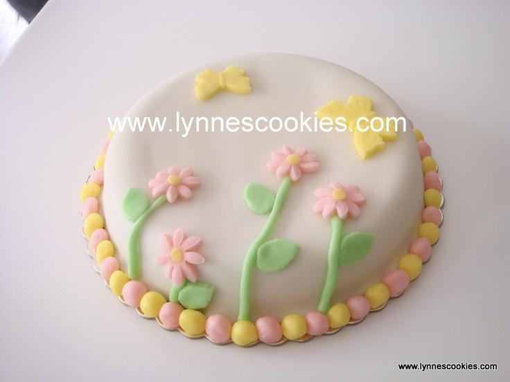 simple flowers cake