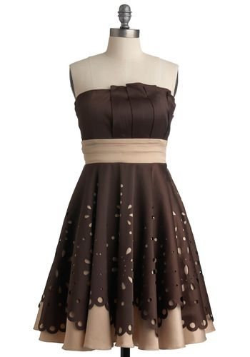 Just love the bottom being whimsical, and the top being classic.: Niche Dresses, Parties Dresses, Hazelnut Niche, So Pretty, Modcloth Wishlist, Super Adorable, Satin Dresses, Cute Bridesmaid Dresses, Modcloth Com