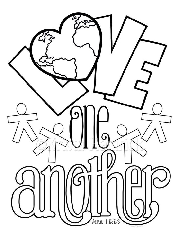 God Is Love Love One Another 2 Coloring Pages For Children Love Coloring Pages Bible Coloring Pages Christian Coloring
