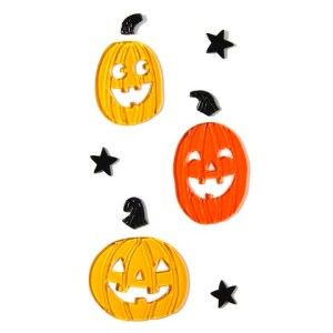 pumpkin gel clings http://www.styledtosparkle.com/styledpicks/outdoor-halloween-decorations/