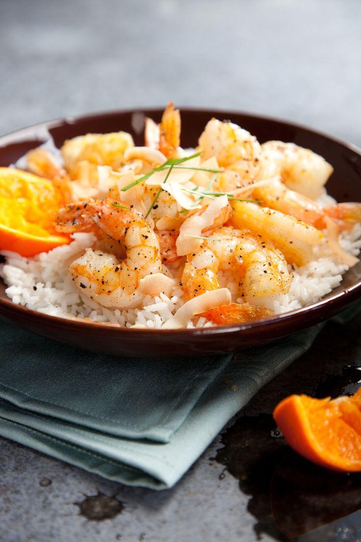 Orange Pepper Shrimp with Texmati Rice