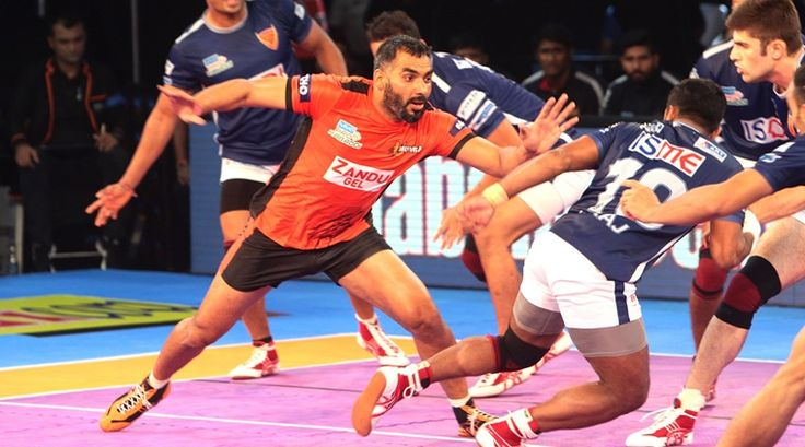 """Captain Anup Kumar and raider Shrikant Jadhav combined to score 14 points as hosts U Mumba defeated Haryana Steelers 38-32 in a Zone A clash of the Pro Kabaddi League (PKL) Season 5 here on Wednesday. Haryana Steelers paid for their lacklustre first half performance while their defence also struggled to score crucial points. Vikas … Continue reading """"U Mumba Beat Haryana Steelers 38-32 In PKL-5"""""""