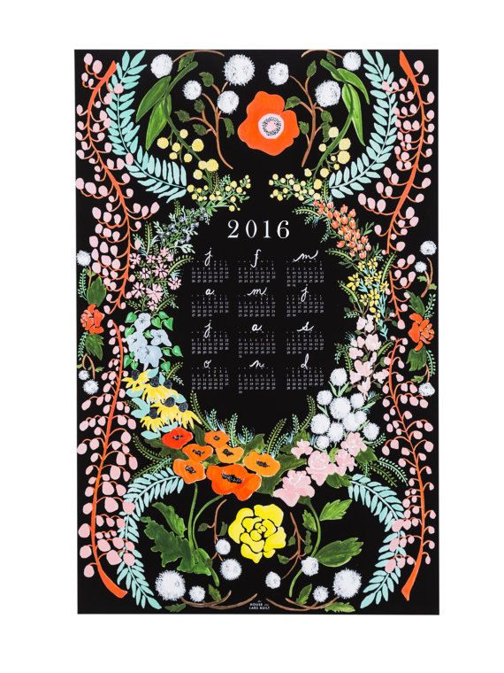 2016 Language of Flowers wall calendar by HouseThatLarsBuilt
