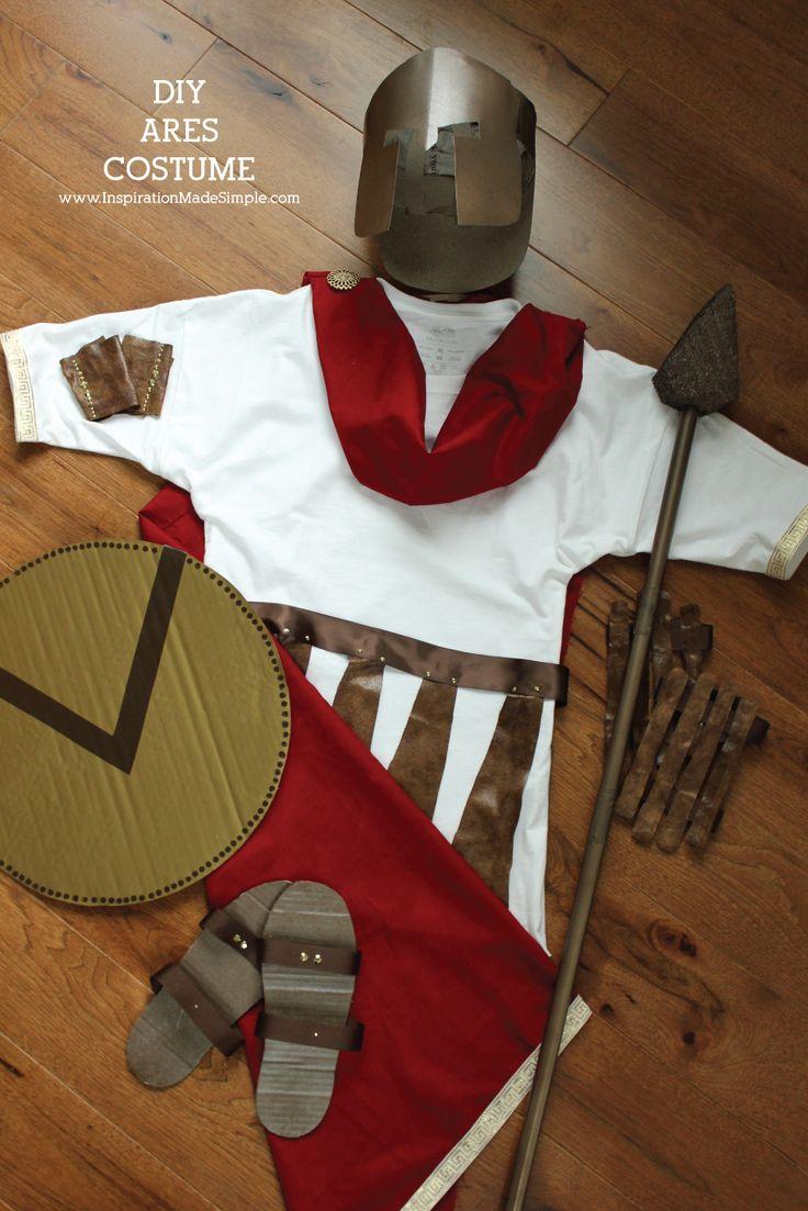 DIY Ares Greek Mythology Costume - simple costume for school Greek Mythology Unit