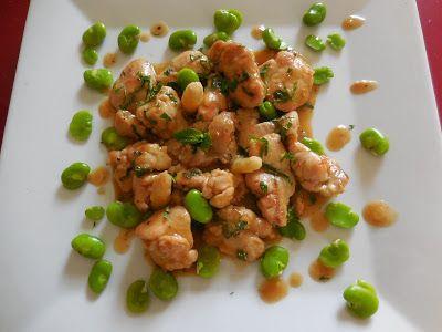 Cuisine de Line: RIS D'AGNEAU A LA MENTHE FRAICHE ET AUX FEVES