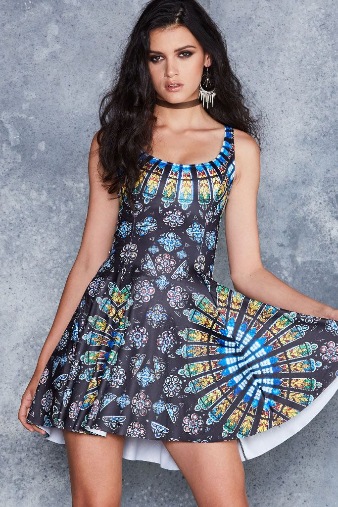 Stained Glass Evil Skater Dress - 48HR ($85AUD) by BlackMilk Clothing