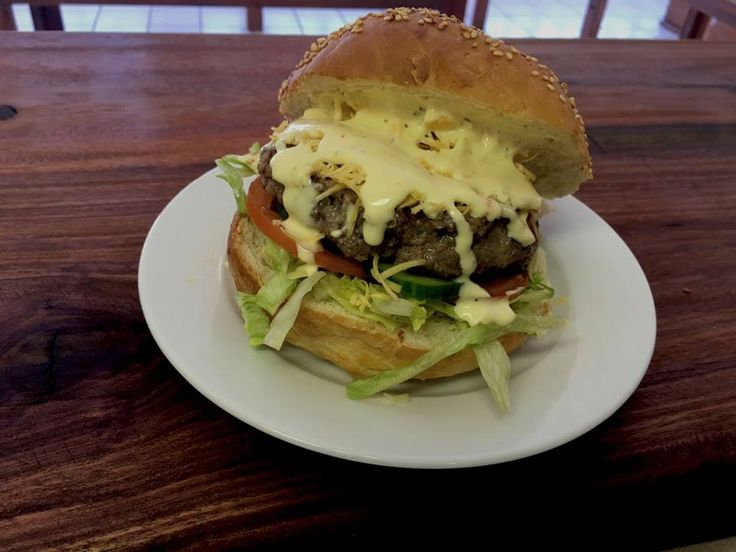 The most delicious burgers @ Die Stoompot in Port Alfred