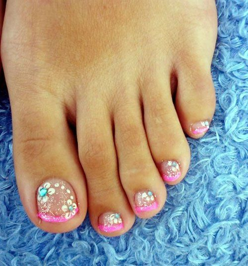 Toe Nail Art Tutorials: 17 Best Images About Cute Toe Nail Art On Pinterest