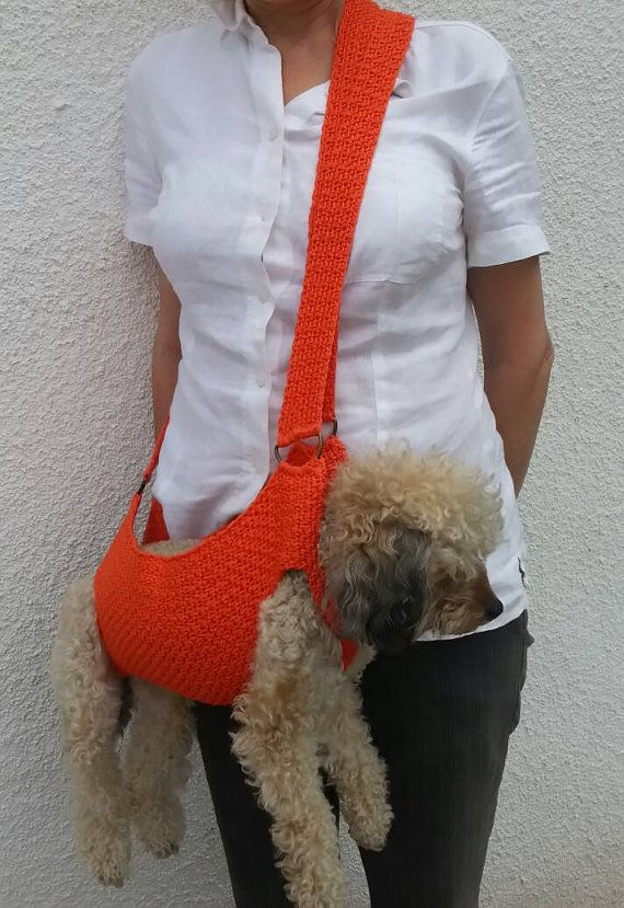 Katoenen Pet drager / haak hond drager / BubaDog pet zomer dragers
