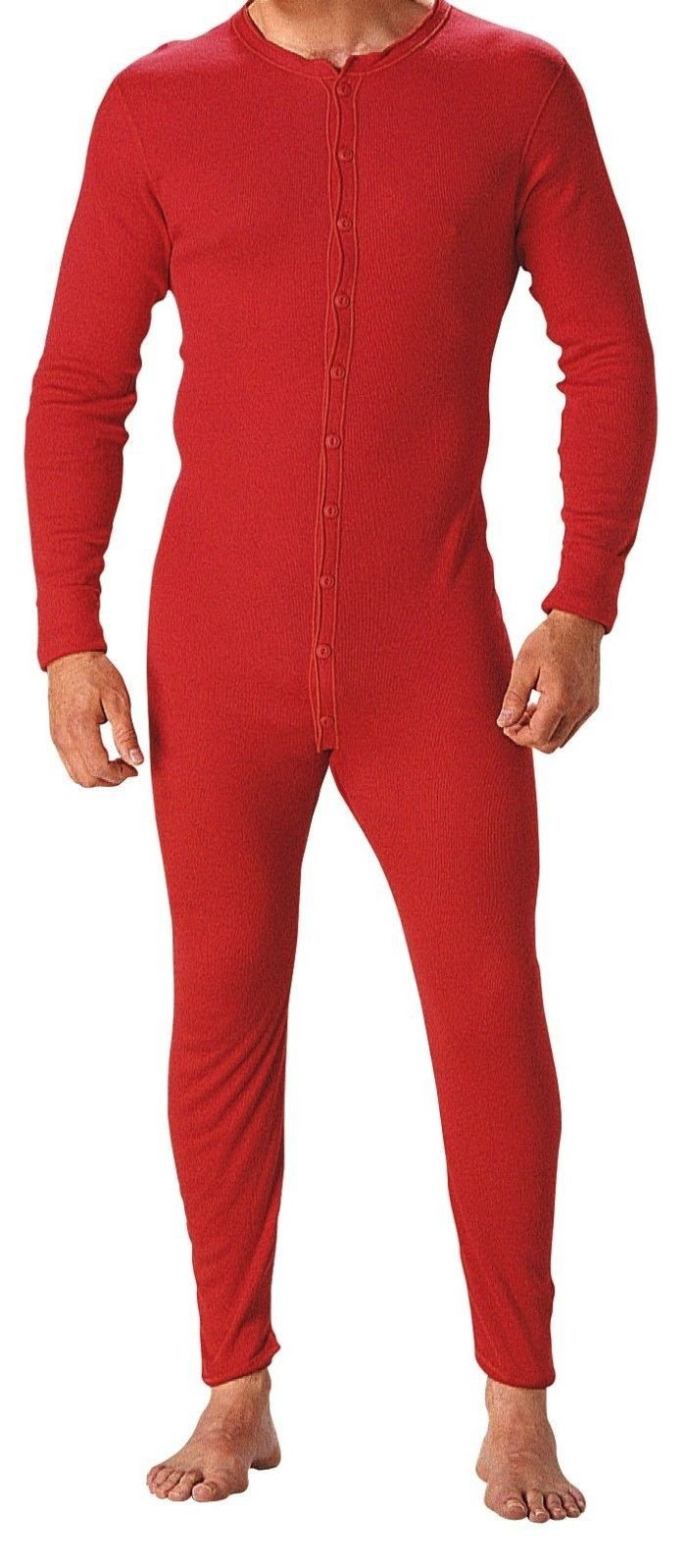 dddcc82c86 The Original Red Union Suit 100% Cotton One Piece Coverall / Long John –  Grunt Force