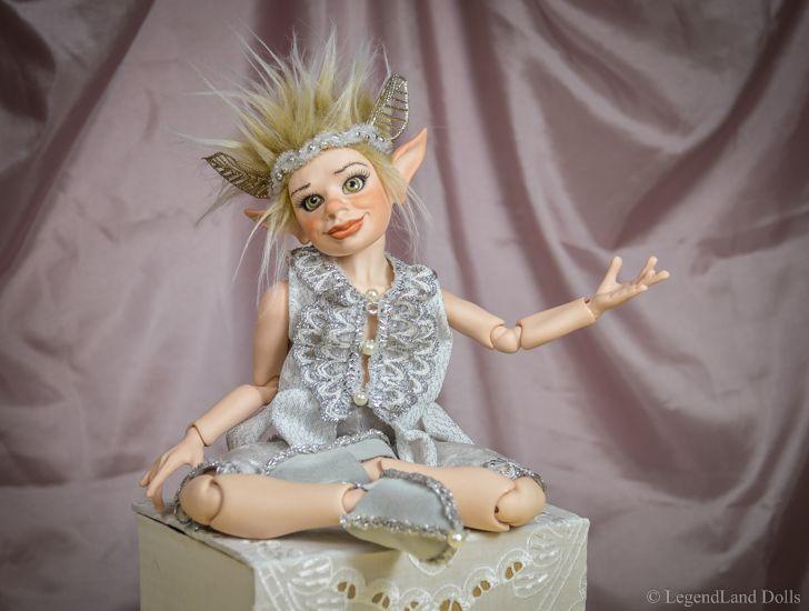 Collectable art porcelain doll by LegendLand Dolls