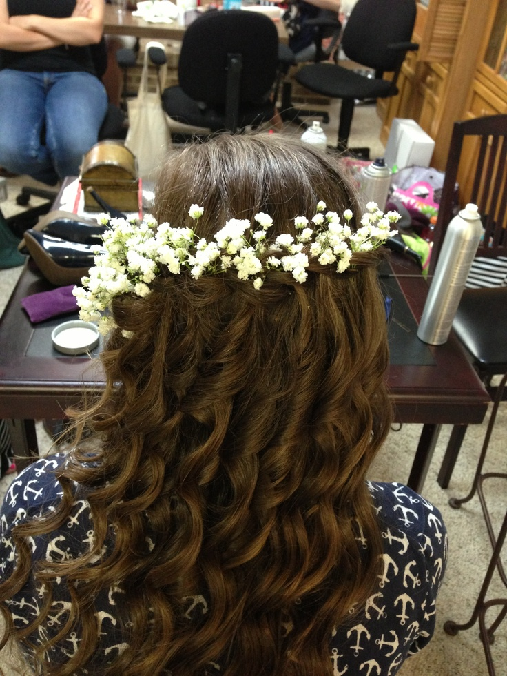 Water fall braid and curls