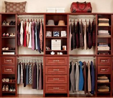 Dark Cherry Deluxe Hutch Closet Kit