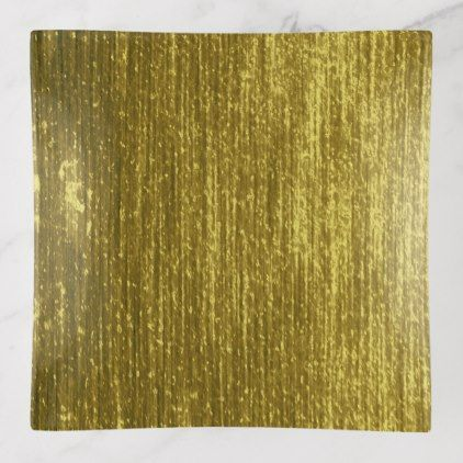 Luxurious gold striped texture look trinket trays - gold gifts golden customize diy