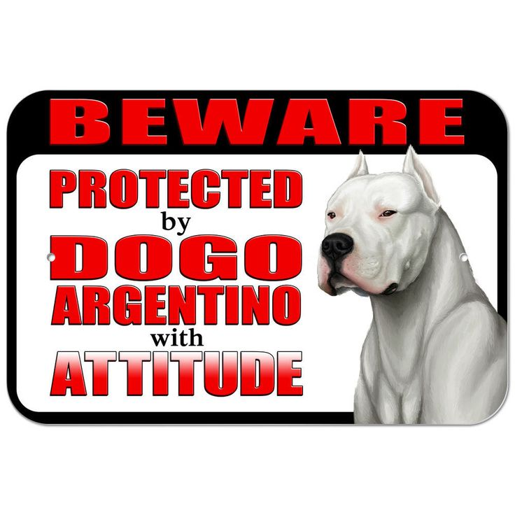 Details about Plastic Sign Beware Protected by Dogo