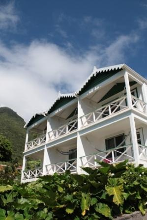 Ocean view rooms at Juliana's Hotel on Saba