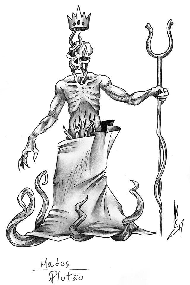 Hades Pluto Serapis Desenhos Artes
