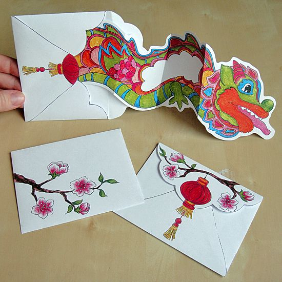 Chinese New Year - Dancing Dragon Card - Hattifant