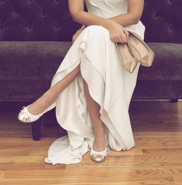 The perfect foldable flats to dance your wedding night away! Talaria Flats Foldable Flats