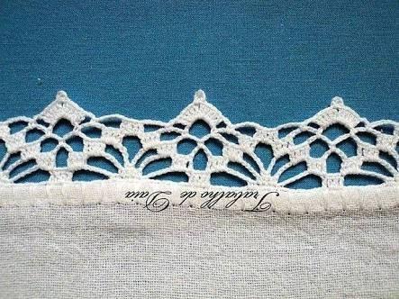 Resultado de imagem para crochet lace edging pattern
