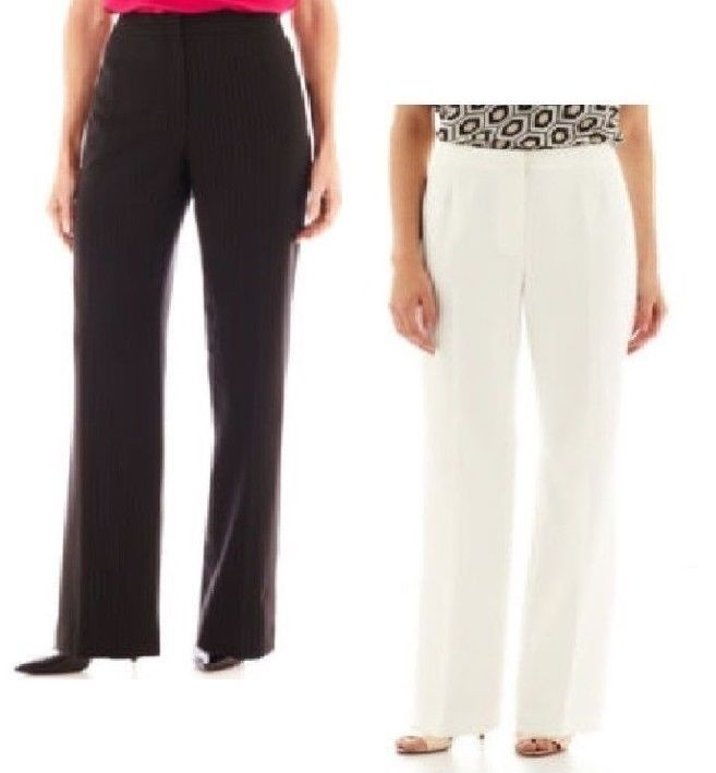 ladies straight leg trousers black NEW 6-16