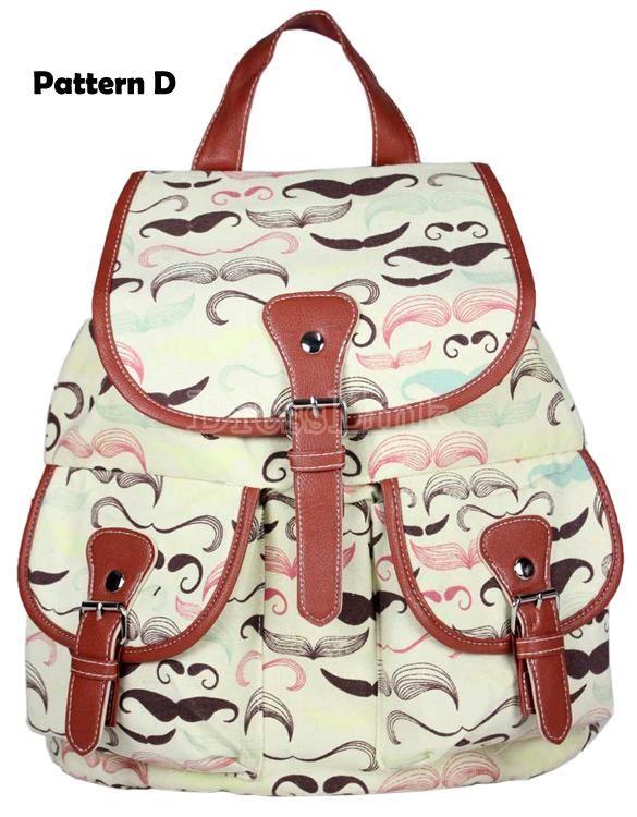 Sac à dos scolaire sac Satchel Canvas sac à dos femmes