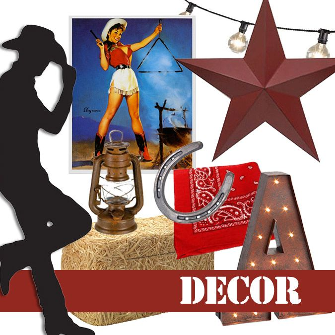 Decoration Ideas For A Wild West Western Or Cowboy Themed