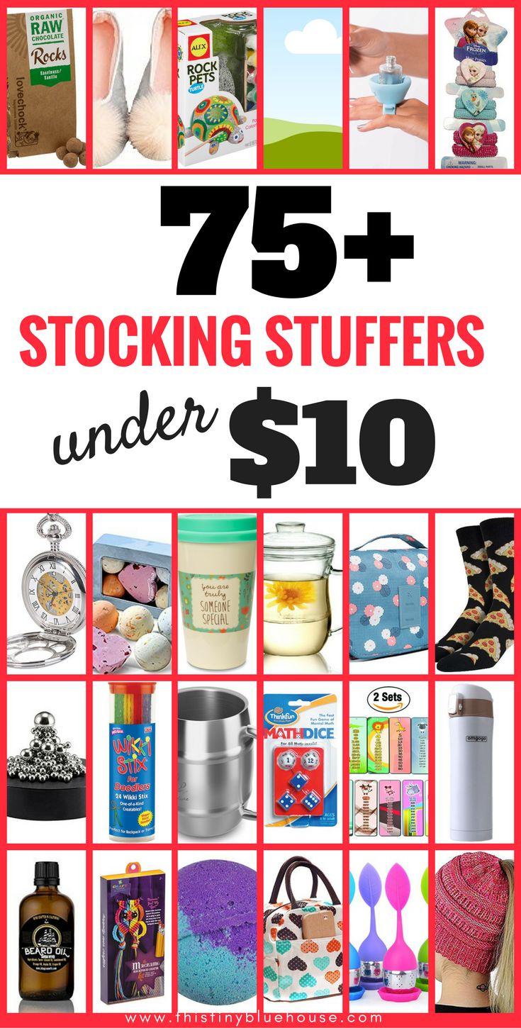 75+ 10$ or less stocking stuffers for the whole family. Make your holiday shopping easy with these awesome budget friendly gift ideas for the whole family.