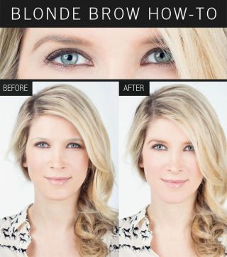 How to fill in blonde eyebrows