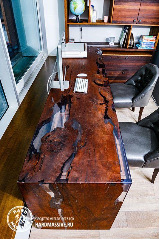 Стол рабочий Glokta - письменный стол из дерева в рабочий кабинет