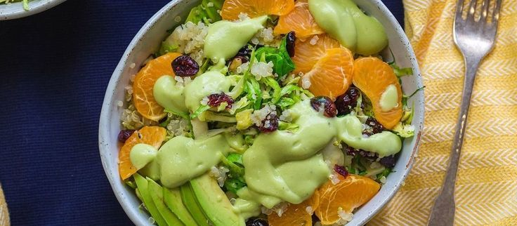 Vegan Warm Brussels Sprout Salad with Toasted Hazelnuts and Avocado Vinaigrette