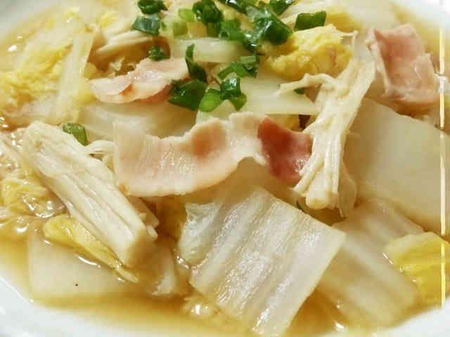 簡単副菜♪白菜とエノキの蒸し煮の画像