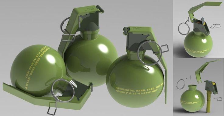 M67 Grenade 3D Model - 3D Model