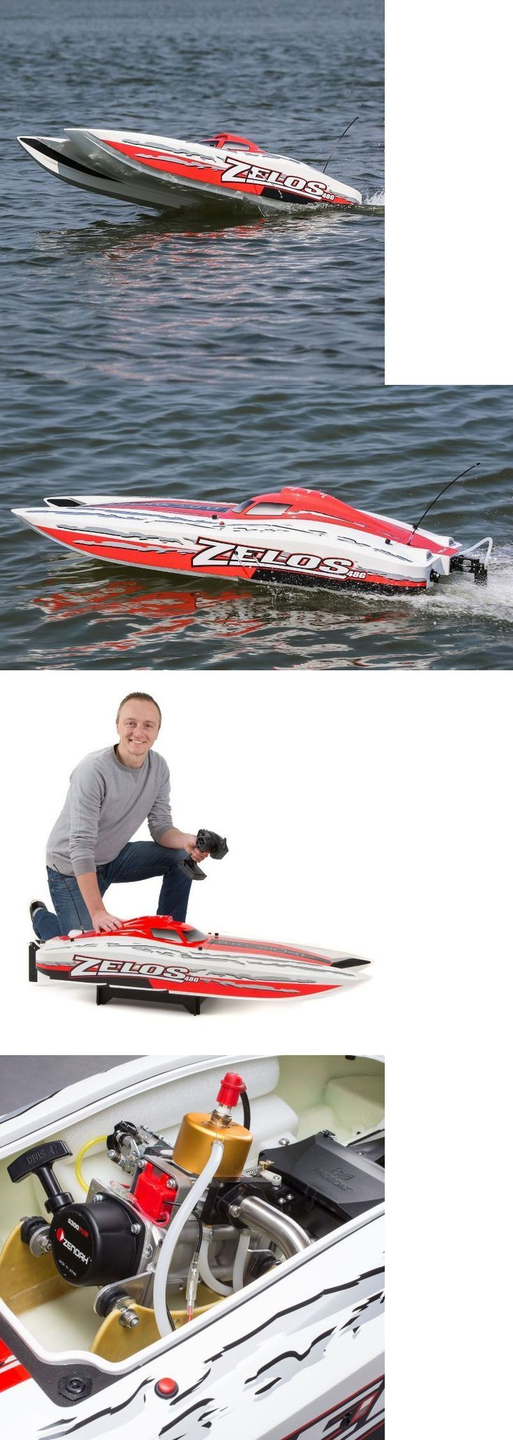 Boats and Watercraft 87480: Zelos G 48-Inch Catamaran Gas Powered: Rtr Rc Boat 50+Mph (Watch Video) -> BUY IT NOW ONLY: $999.99 on eBay!