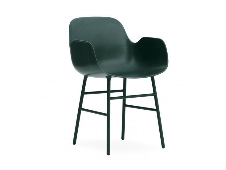 Fotel Form Stalowy zielony — Fotele Normann Copenhagen — sfmeble.pl