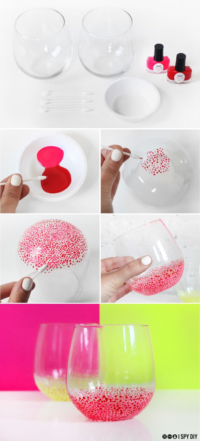 STEPS | Speckled Wine Glasses