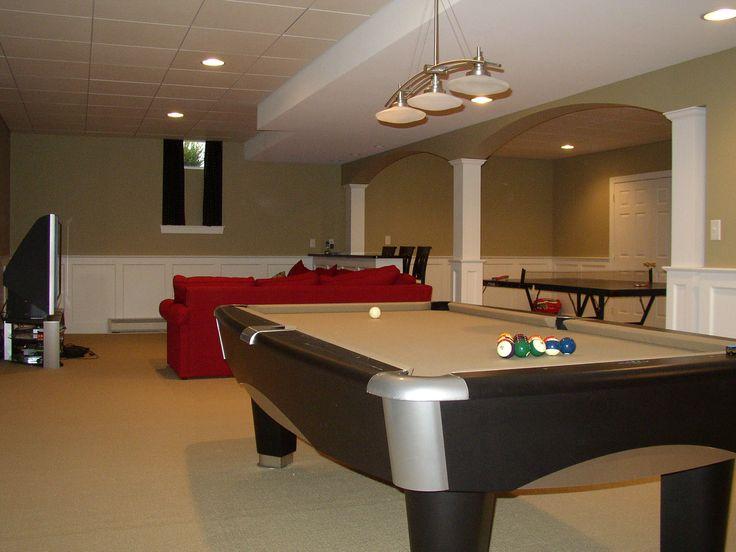 Lighting Basement Washroom Stairs: 138 Best Pool Table Room Ideas Images On Pinterest