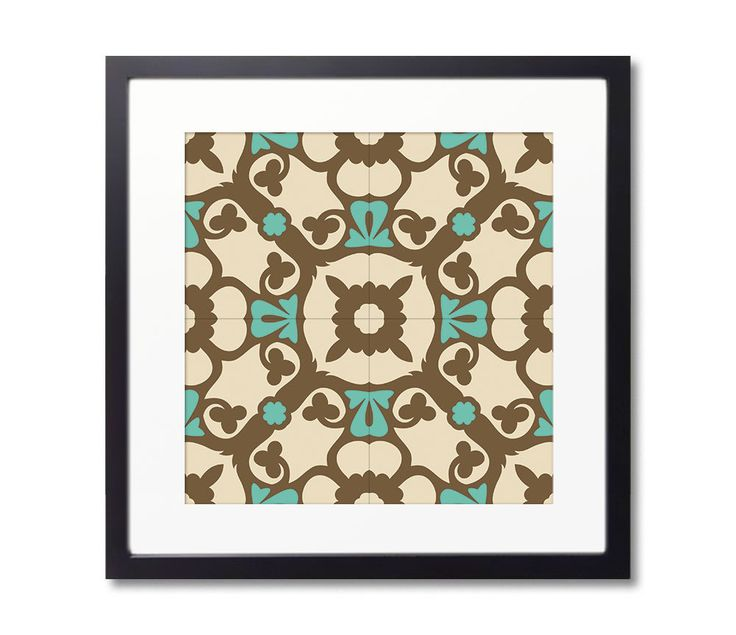 Tile Design Print With Framed, Barcelona Tiles, Wall Art, Geometric Art. 20 Different designs to choose from by Macrografiks on Etsy