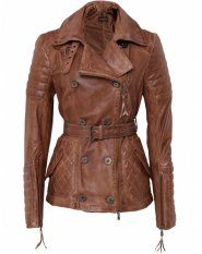 Discontinued Benedetta Novi Short Washed Leather Jacket - sure is nice to look at
